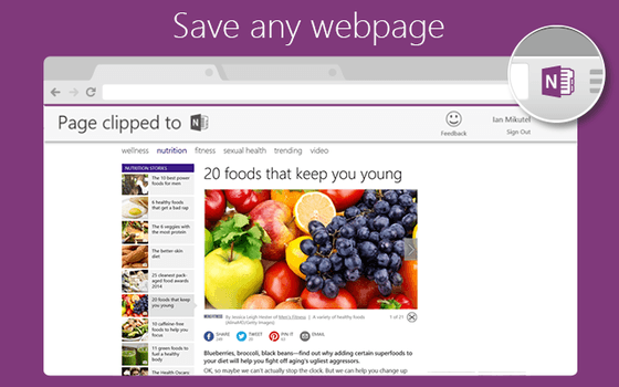 OneNote Clipper Launches On Chrome