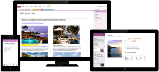 OneNote With New Free Features Announced On Friday For All