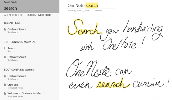 Microsoft Updates OneNote With Handwriting Support Searches