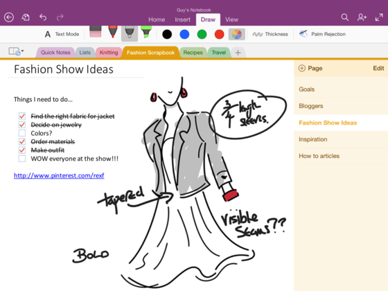 Microsoft OneNote For iPad Gets Handwriting Support