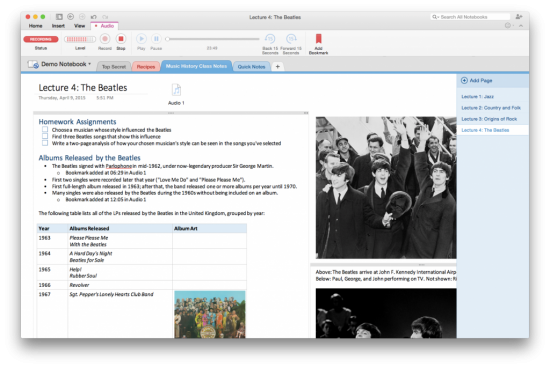 Microsoft Updates OneNote For Mac With Audio Recording Updates