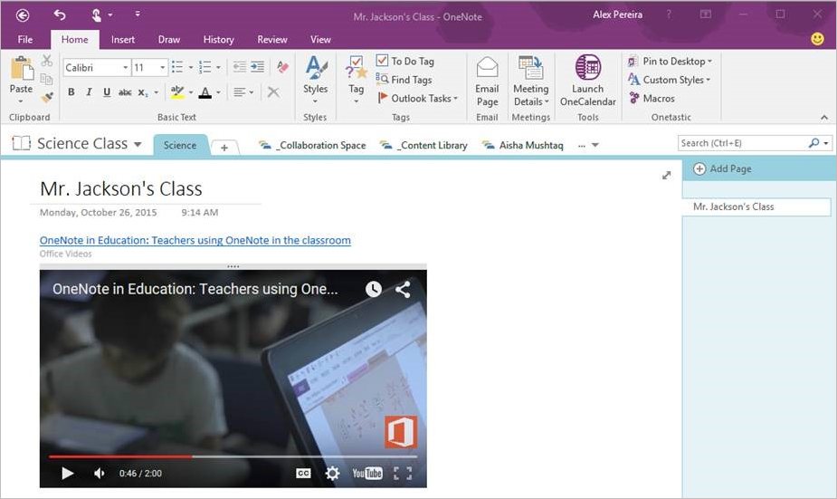 Microsoft Lets Users Embed Video Into OneNote 2016