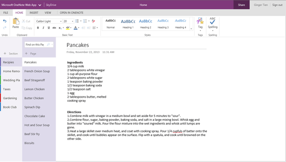 Microsoft's OneNote Online Shows Off New Features In Updates Released Wednesday