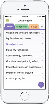 Microsoft Updates OneNote For The iPhone With New Features