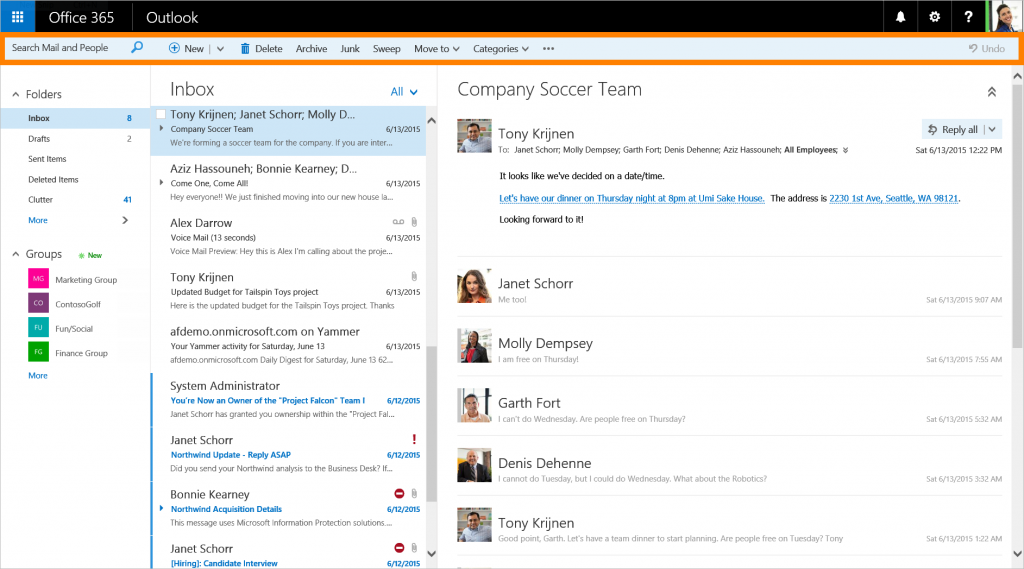 Microsoft Updates Outlook For The Web With Action Toolbar