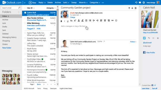 Microsoft Gives Outlook.com Users In-Line Reply