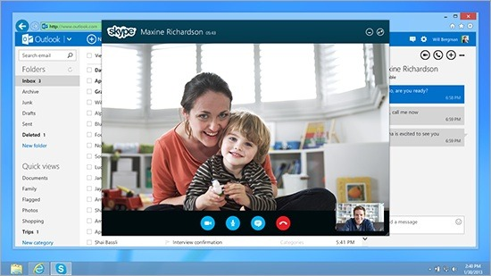 Microsoft Rolls Out Skype Integration With Outlook.com