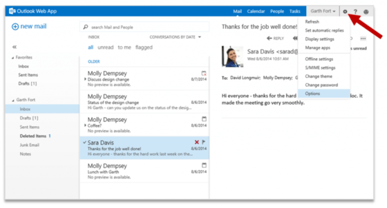 Microsoft Updates Outlook Web App With Options Updates