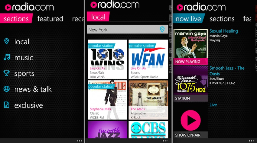 Radio.com App Shows Up For Windows Phone Users To Download