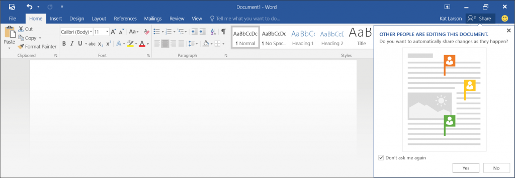 Microsoft Lets Users Edit In Real-Time Within Word Preview for 2016
