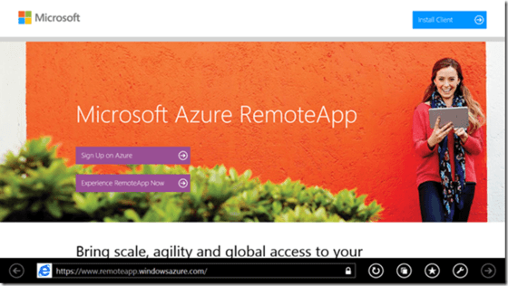 Microsoft Announces Azure RemoteApp For Windows RT Devices
