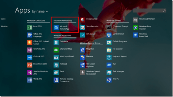 Microsoft Shows Off Azure RemoteApp On Windows RT Windows App List