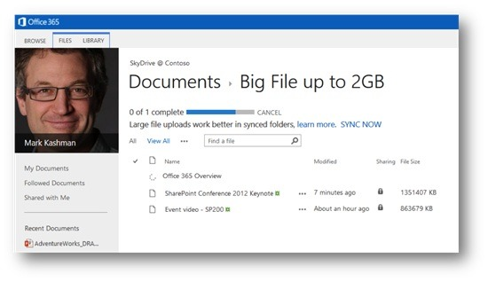 SharePoint Users Get Increased Storage Limits