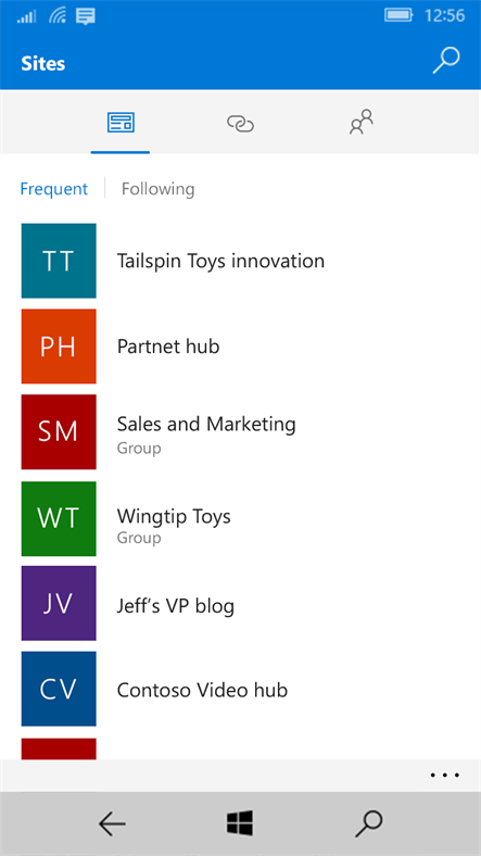 SharePoint Arrives On Windows 10 Mobile