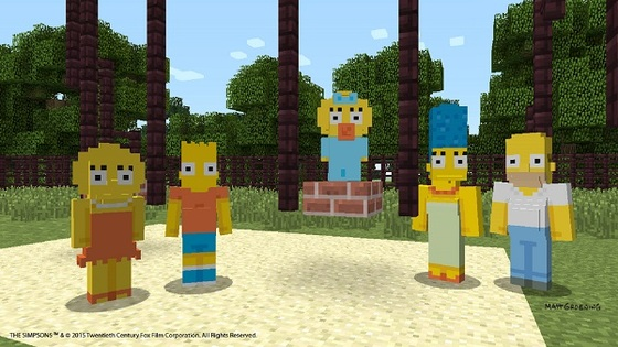 Microsoft Details Launch Of Simpsons Expansion Pack For Minecraft