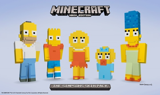 Simpsons Expansion Arrives For Minecraft Users Courtesy Of Microsoft and Xbox