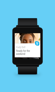 Microsoft's Skype Gets Android Wear Support
