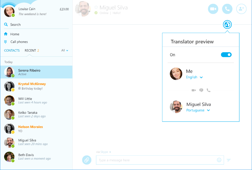 Microsoft Updates Desktop App Of Skype With Brazilian Portuguese Options