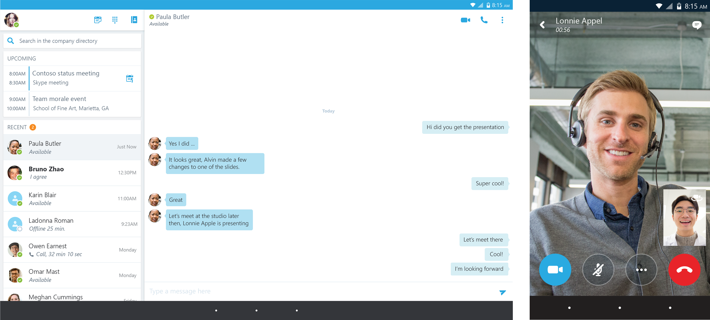 Microsoft Debuts Skype For Business On Android