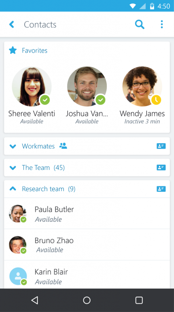 Microsoft Gives Business Users Easier Contact Management With Skype For Business On Android