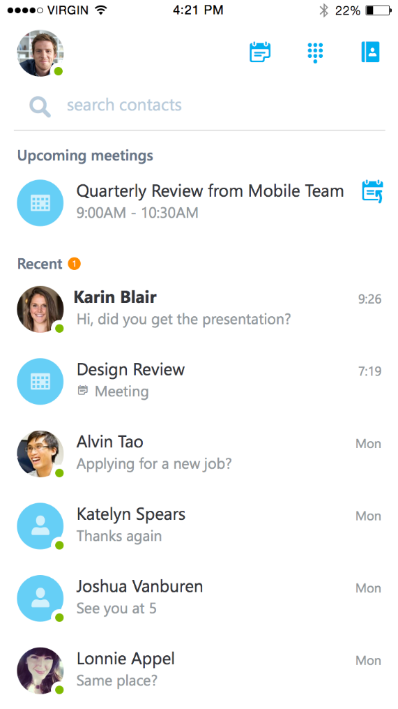 Microsoft Releases Skype For Business For iOS