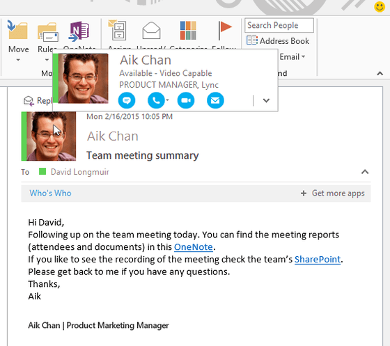Microsoft Shows Skype For Business During Convergence Event