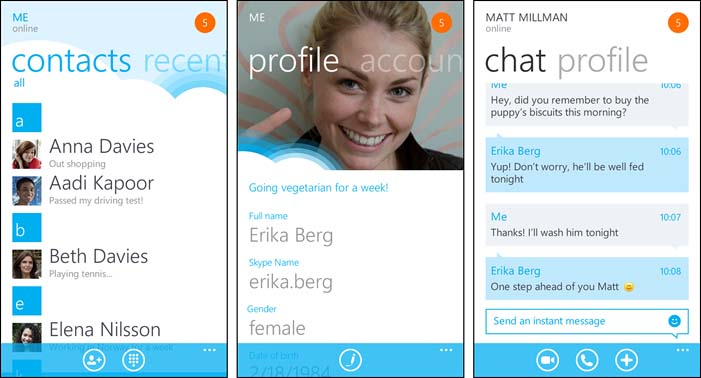 Microsoft's Windows Phone Version Of Skype Updated With Skype Conversation Update
