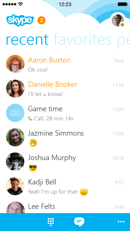 Skype Shows Off New Skype 5.0 Client For iPhone