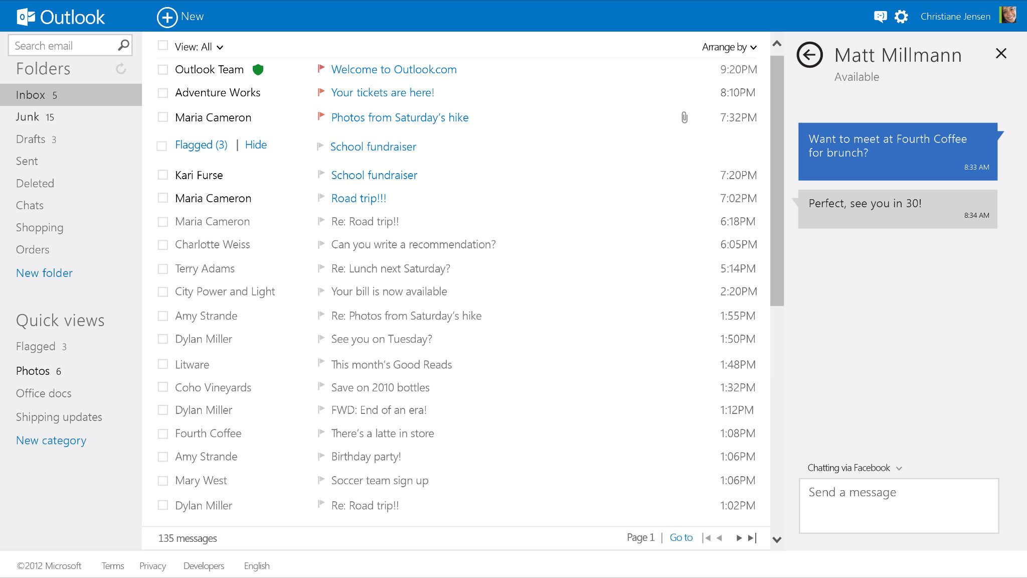 Microsoft's Outlook.com Get Major Skype Updates For Users