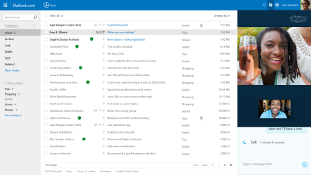 Microsoft Gives Outlook.com The Skype Update For All To Try
