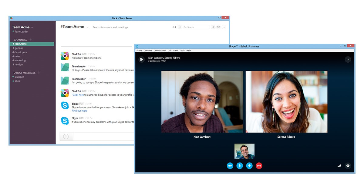 Microsoft Gives Slack Users A Preview Build Of Skype