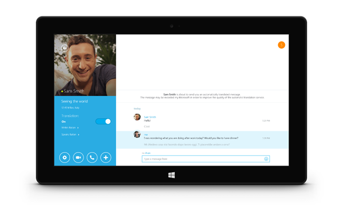 Microsoft's Skype Translator Adds Italian as Second Language