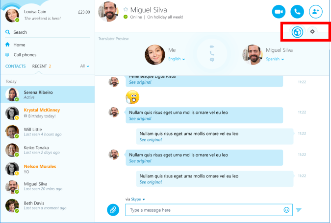 Microsoft Shows New Skype Desktop App With Skype Translator