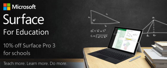 Microsoft Gives Educational Institutions 10 Percent Of Surface Pro 3 Bundles