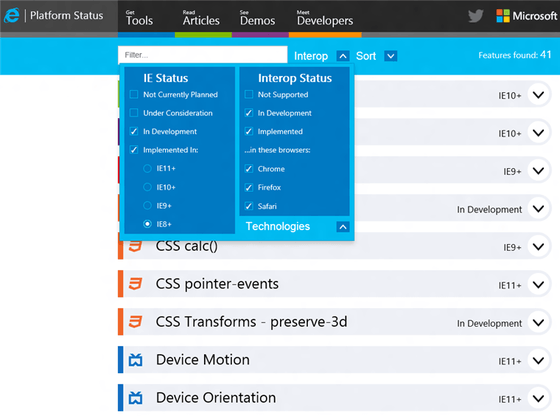 Microsoft Shows Off Changes To Status.Modern.IE For IE Developers