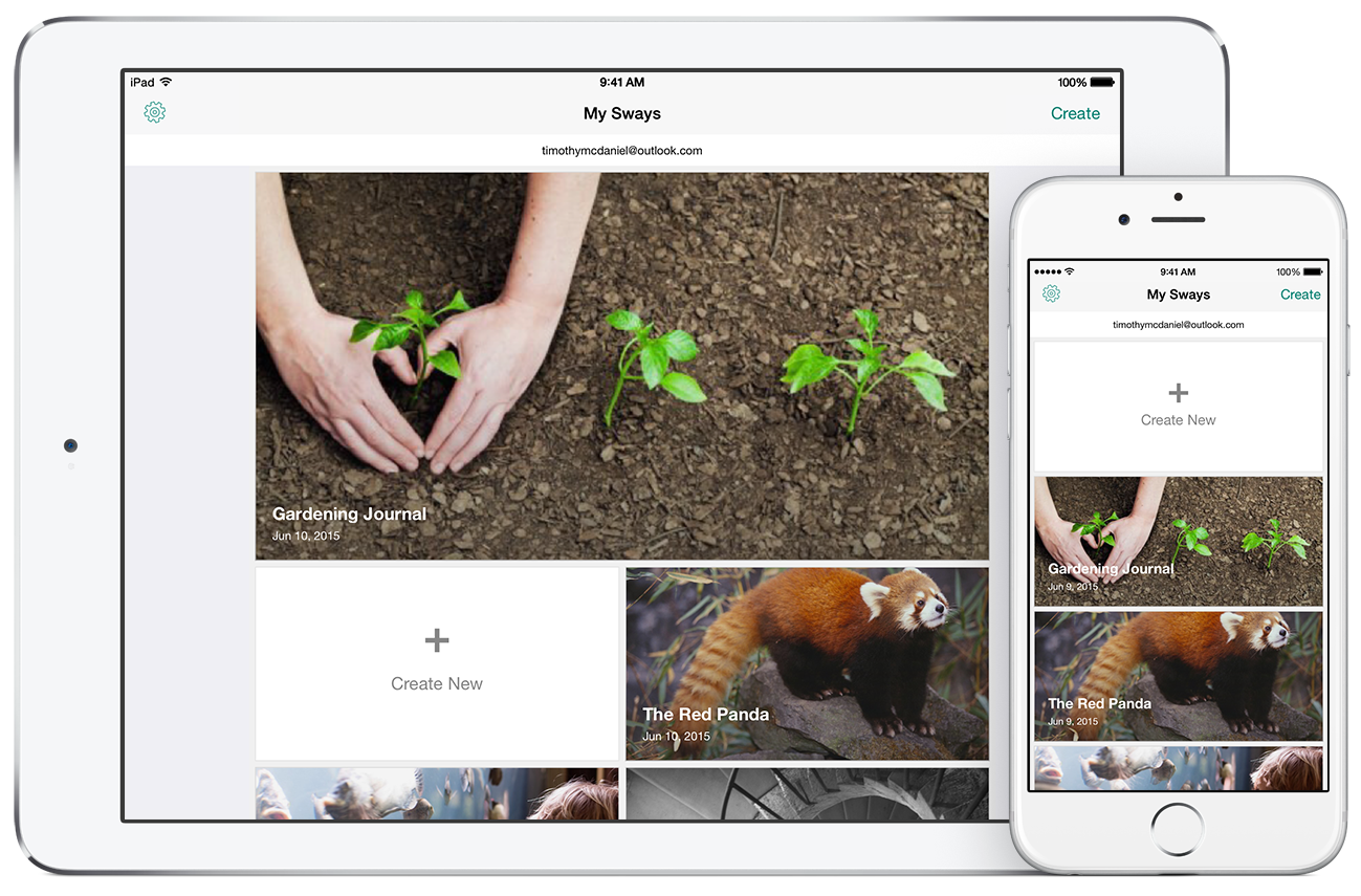 Microsoft Releases Sway For iPad