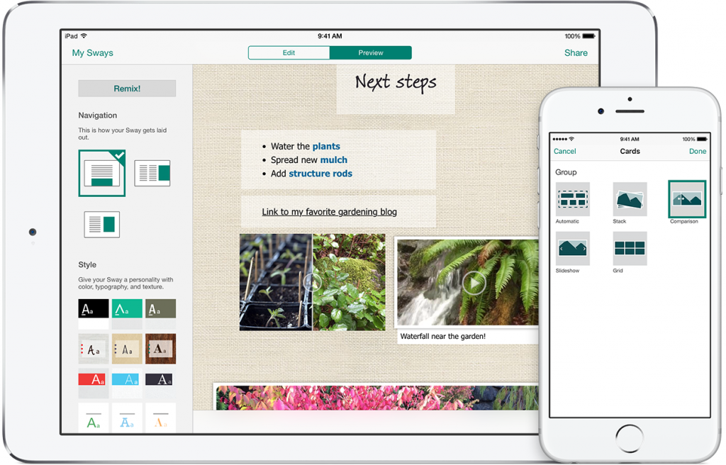 Microsoft Updates Sway For iPhone and iPad