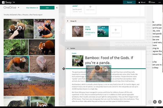 Microsoft Launches Sway To Show Off Idea Sharing And More