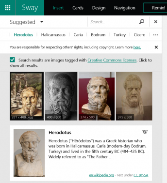 Microsoft Sway Gets Wikipedia Support