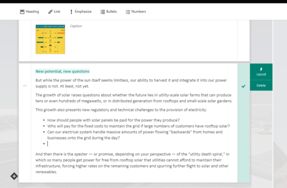 Microsoft Updates Sway With Text Editing and Bullet/Numbering Features