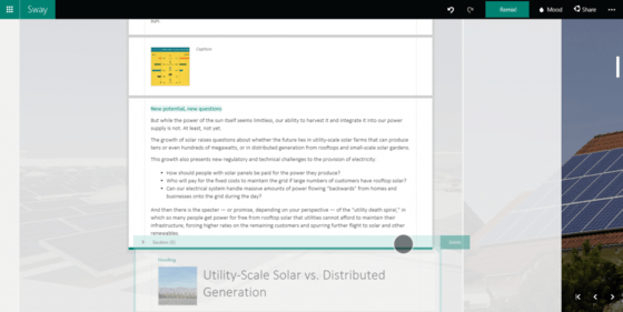 Microsoft Gives Users Ways To Drag Sections Of Text and Images In Sway Update