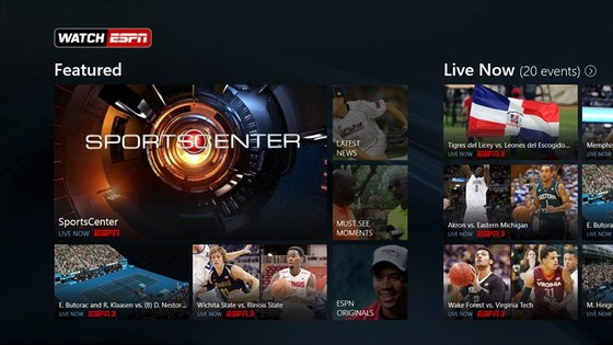 ESPN's WatchESPN App Also Available For Windows 8.1 Users