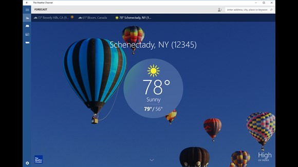 Weather Channel App Keeps Track Of Weather On Windows 10
