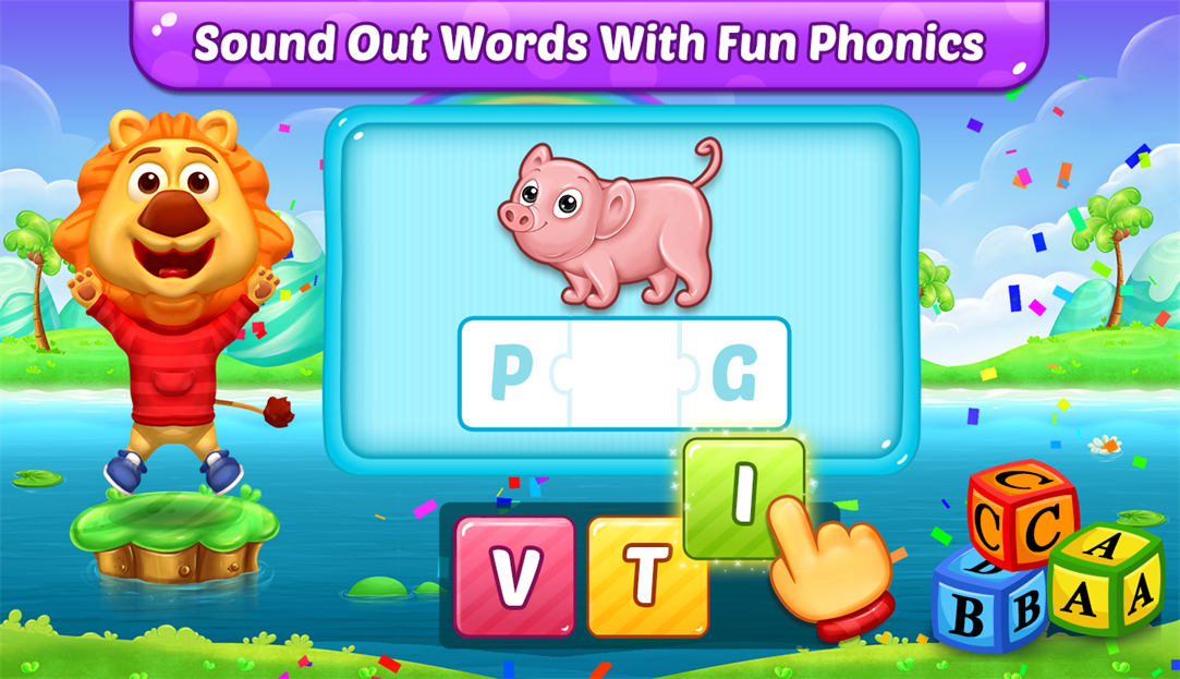 Children Can Sound Out Words With Fun Phonics With ABC Spelling