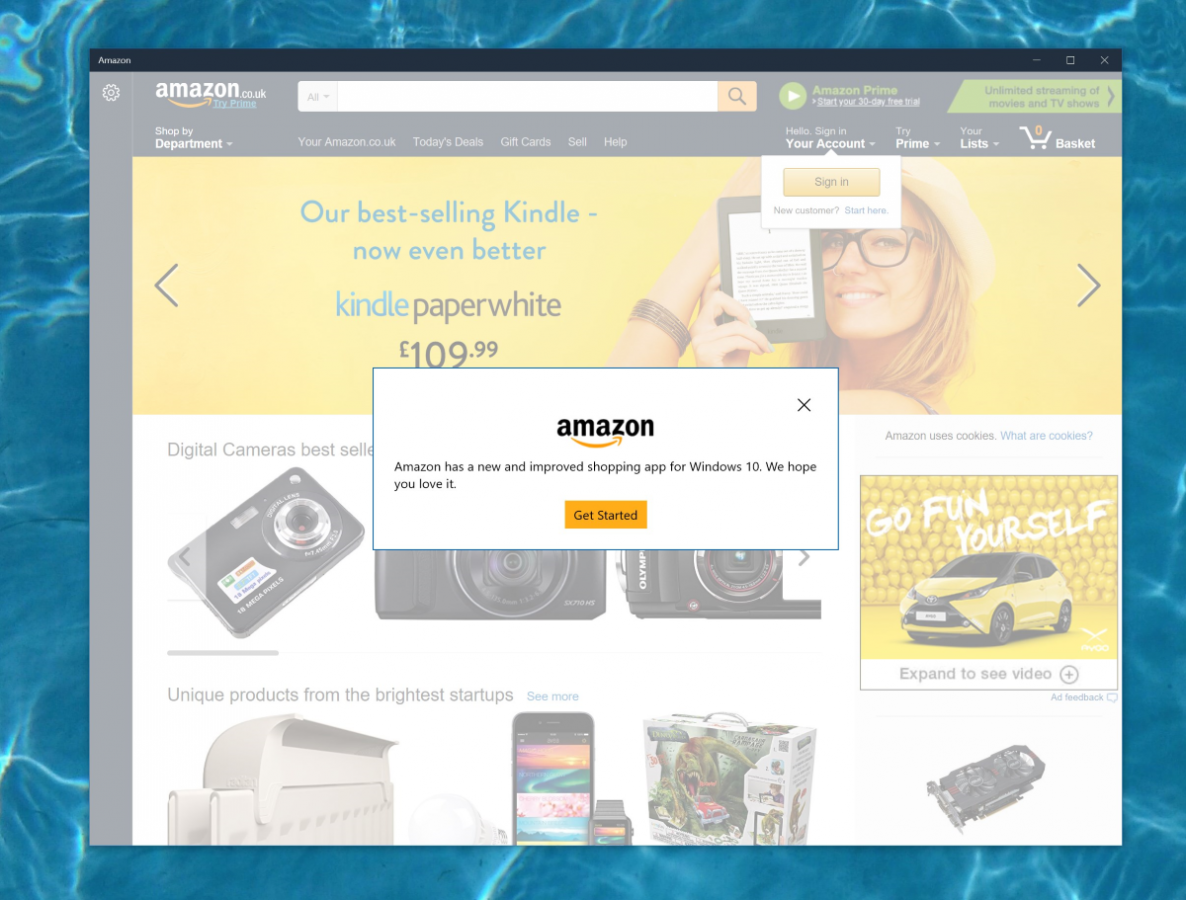 Amazon Releases Windows 10 App For Users