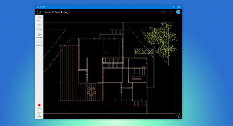 Automated CAD Drawings Live With AutoCAD 360 Windows 10 App