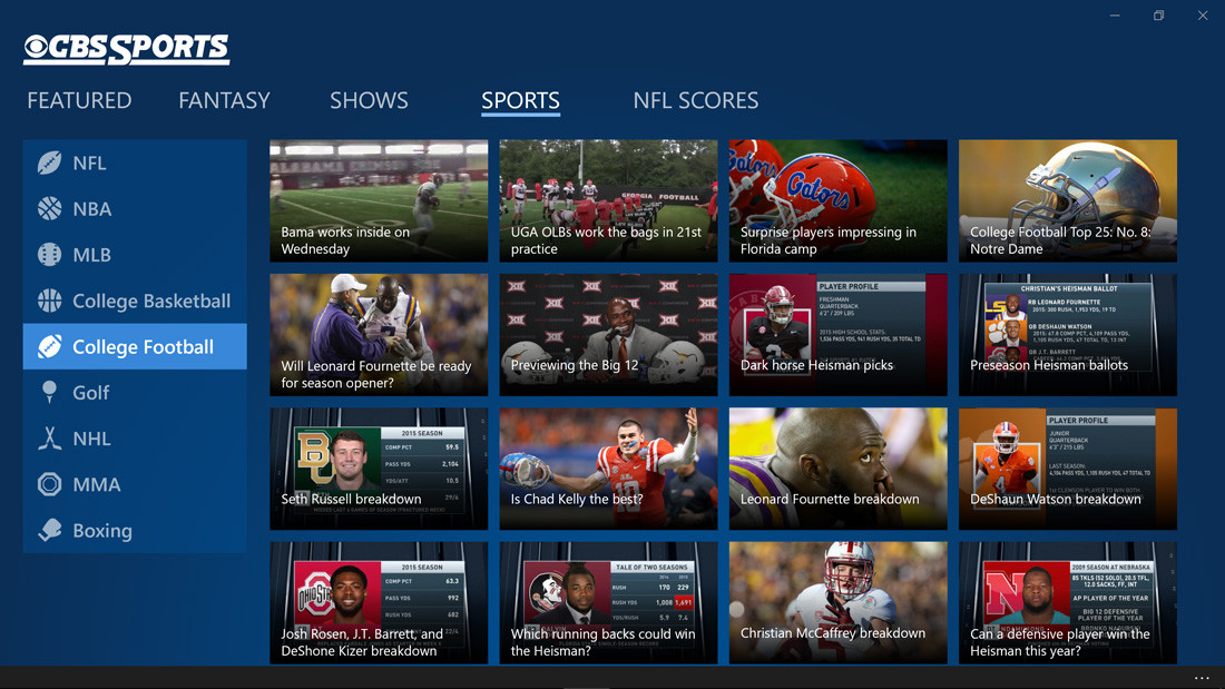 College Football Fans Can Enjoy Football With CBS Sports App