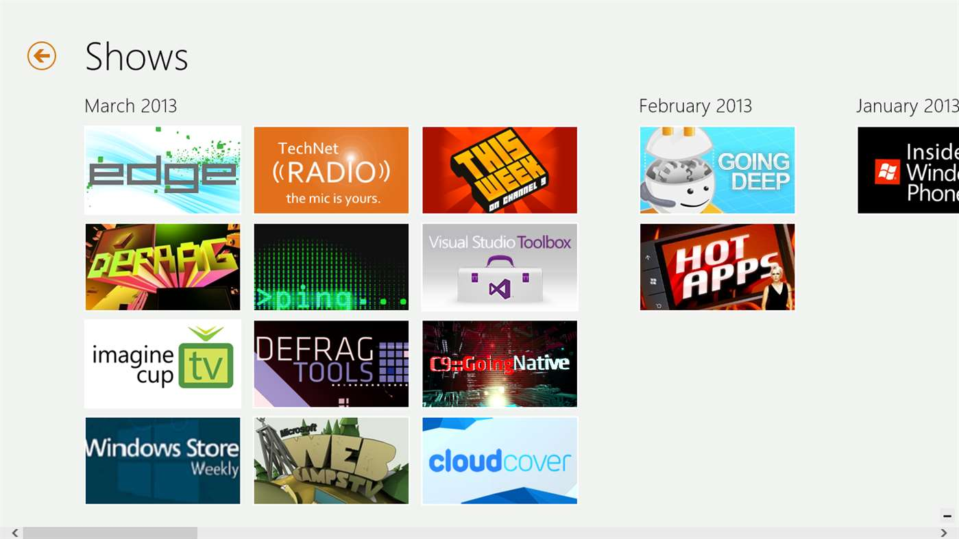 Channel 9 Programs Available Anytime With Windows 10 App