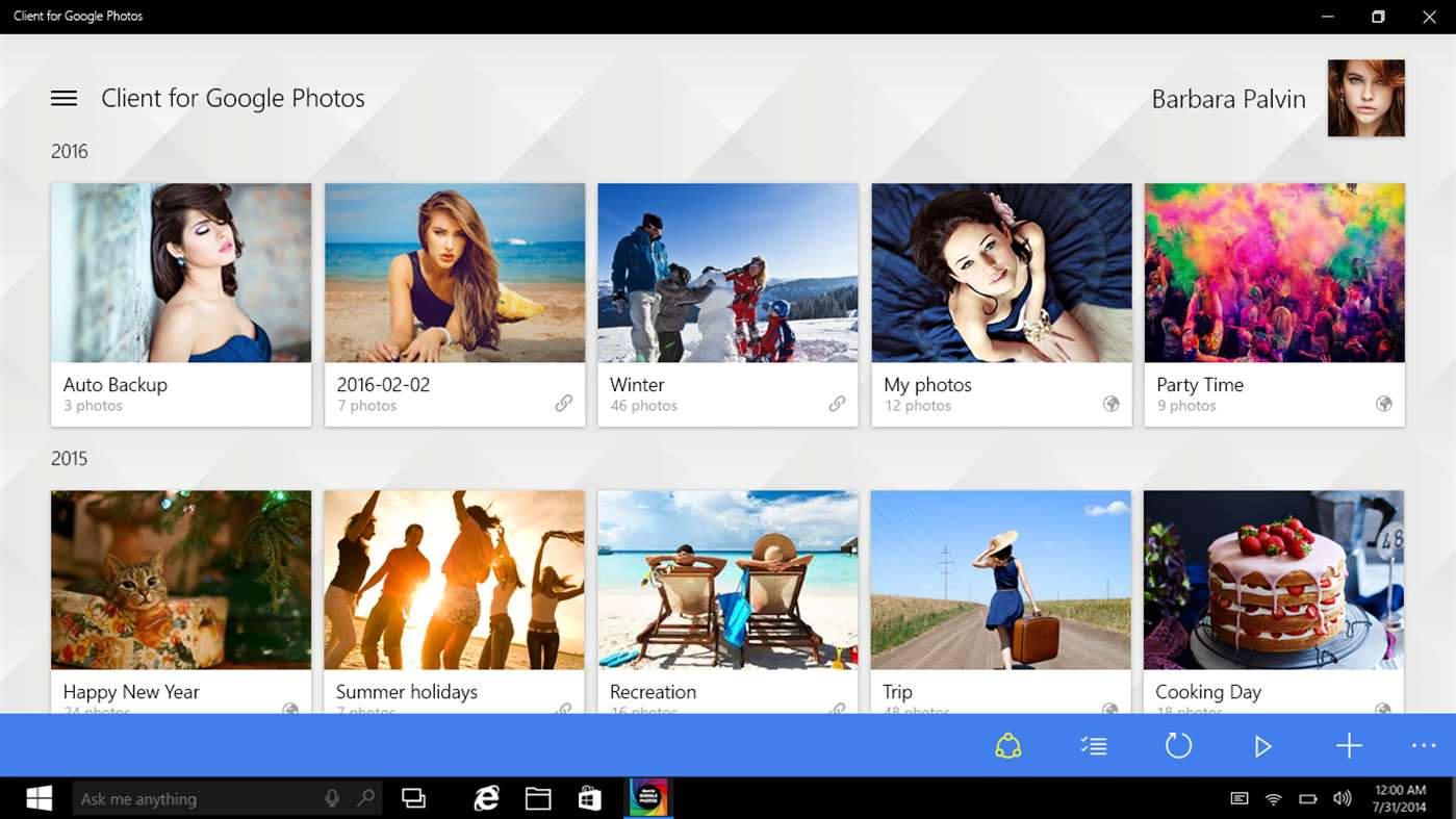 Bring Google Photos To Windows 10 Via Client For Google Photos