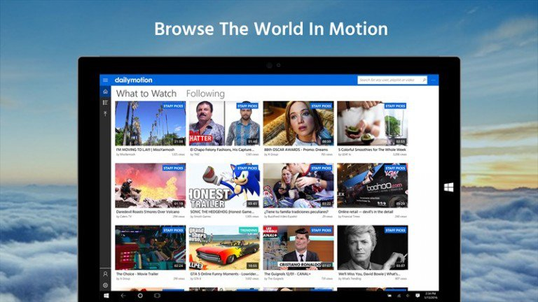 New Windows 10 Universal Dailymotion App Launches
